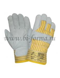 Перчатки спилковые комбинированные 0295