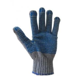 Перчатки ХБ с ПВХ 6 нитей ( уголёк люкс)