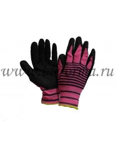 Перчатки вязанные нейлоновые с покрытием из вспененного каучука