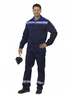 Костюм Профи 1 куртка/брюки  (т.синий/василек)