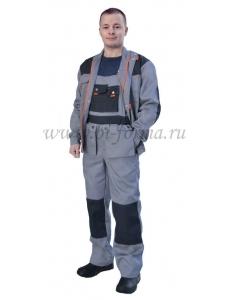 Костюм Форвард куртка/полукомбинезон т.серый/серый/оранжевый № 109