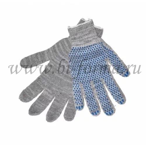 Перчатки ХБ 4 нити 10 класс (серые)