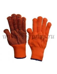 Перчатки АКРИЛОВЫЕ С ШЕРСТЬЮ утепленные с ПВХ нанесением