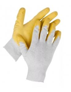 Перчатки х/б одинарный облив латексом 13 класс вязки