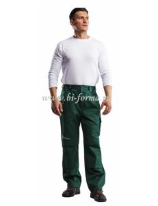 Брюки мужские Алатау (зеленый/черный) 100% ХБ/ 250 г/м2 ВО
