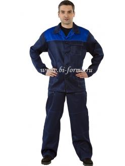 Костюм Стандарт куртка/брюки, грета, синий/васил.
