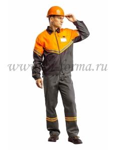 Куртка мужская Илион (графит/оранжевый)
