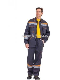 Костюм Комфорт  куртка/брюки (серый/оранжевый)