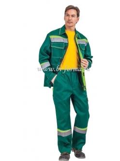 Костюм Комфорт куртка/брюки (зеленый/неоновый)