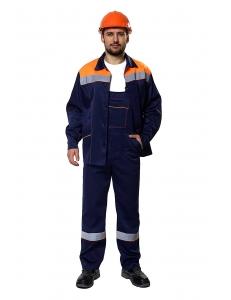 Костюм Рекорд куртка/пк (т.синий/оранжевый)