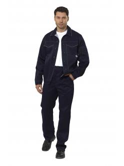 Костюм Умелец 1 синий/св.серый куртка/брюки