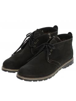 Ботинки утепленные мужские черные Нубук  565483
