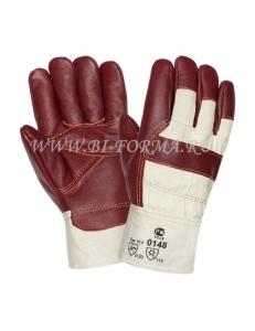 Перчатки утепленные кожаные комбинированные 0148