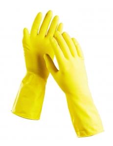 Перчатки латексные (резиновые) хозяйственные.