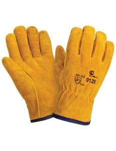 Спилковые утепленные перчатки Siberia 0128