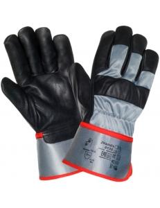 Перчатки (краги) кожаные комбинированные 0135 (козья кожа/ткань)