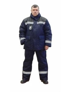 Костюм рабочий утепленный «Эверест плюс» синий/черный ( IV климатический пояс)