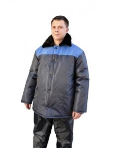 """Куртка """"Телогрейка"""" (оксфорд) с меховым воротником"""