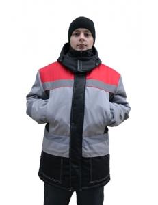 Куртка Континент серый/красный