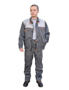Костюм ЛИДЕР куртка/брюки т.серый/серый № 108