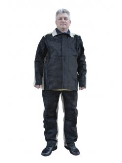 Костюм для сварщика комбинированный спилк/брезент, куртка/брюки 2,3г/м2/480 г/м2