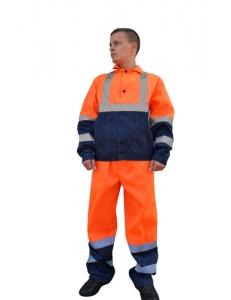 Костюм мужской Дорожник СОП, куртка/брюки, оранжевый/синий