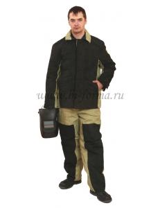 Костюм сварщика комбинированный с утеплителем брезент пл. 480гр