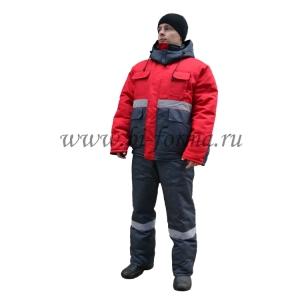 """Костюм """"Новатор"""" (зимний) серый/красный"""