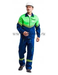 Куртка мужская ИЛИОН (синий/неоновый)