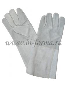 Краги сварщика серые спилковые (без подкладки)